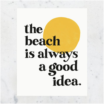 Idlewild Co. The Beach is a Good Idea Print 11 x 14 inch