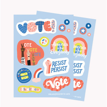 Idlewild Co. Vote Stickers (2 Sheets)