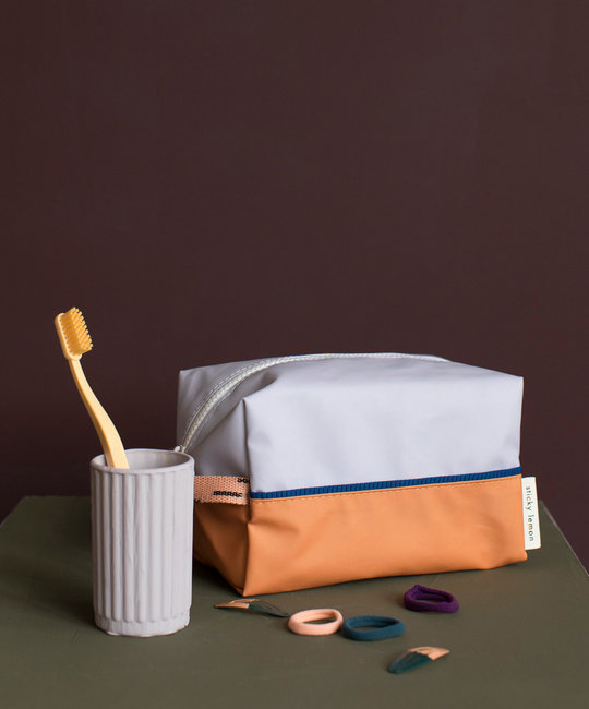 Sticky Lemon Sprinkles Toiletry Dopp Kit: lavender - apricot orange - lemonade pink