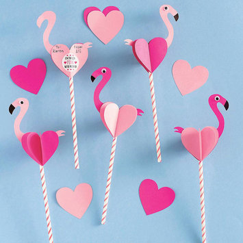 Waste Not Paper - WN Flamingo Valentine Card Kit - set of 24