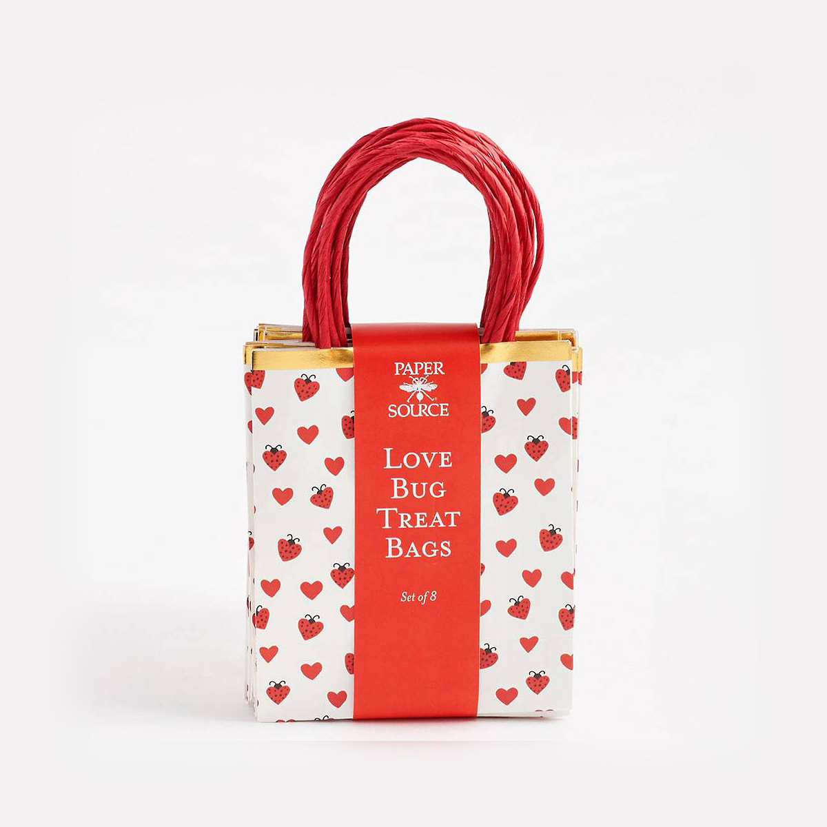 Waste Not Paper Love Bug Treat Bag - single