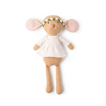 Hazel Village Annicke Mouse in  in Natural Tunic and Green Flower Crown