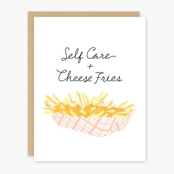 Party of One - POO Self-Care and Cheese Fries Greeting Card