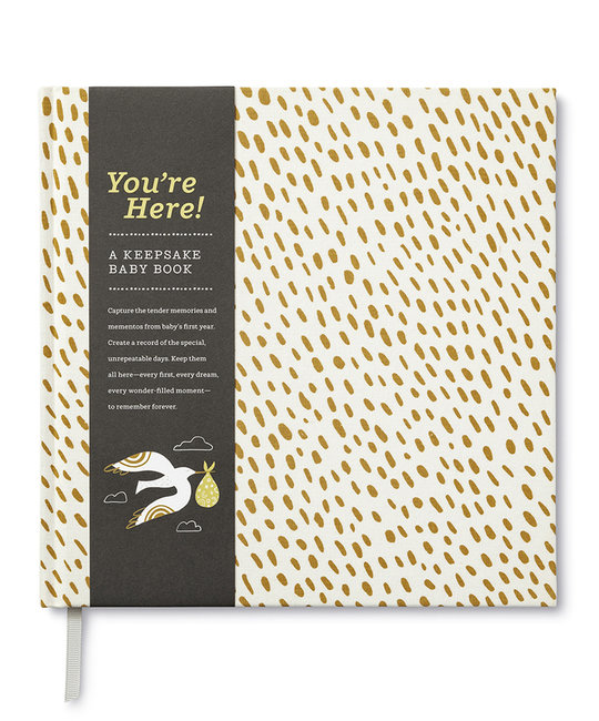 Compendium You're Here! A Keepsake Baby Book