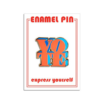 The Found Vote Red and Blue Enamel Pin
