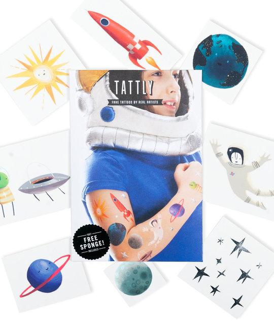 Tattly - TA Tattly - Space Explorer Set of Tattoos