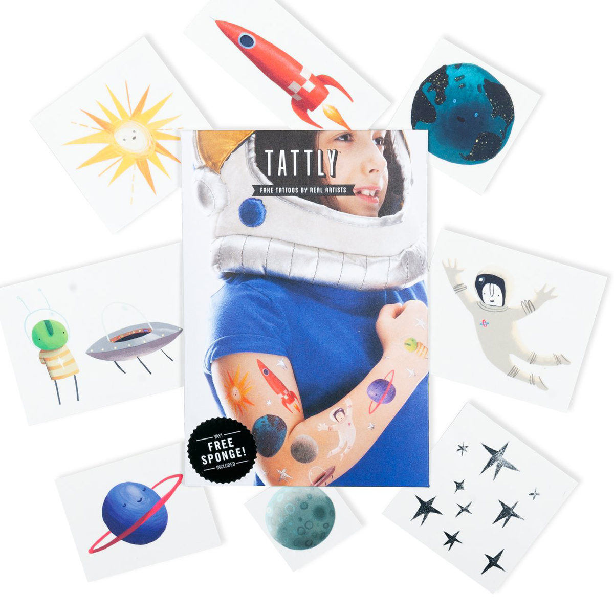 Tattly - TA Tattly - Space Explorer Set of Tattoos