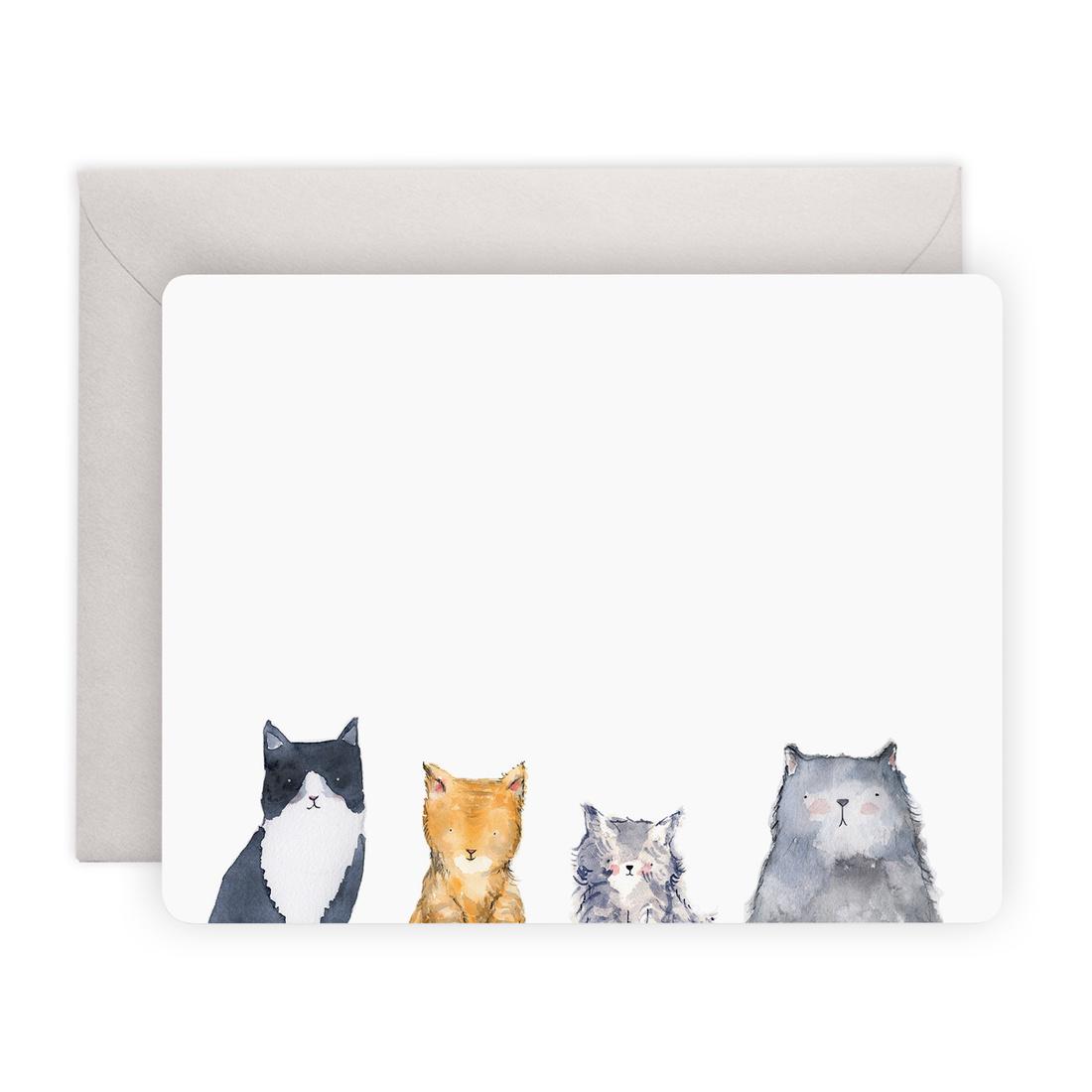 E. Frances Paper Studio Cat's Meow Notes, Set of 8