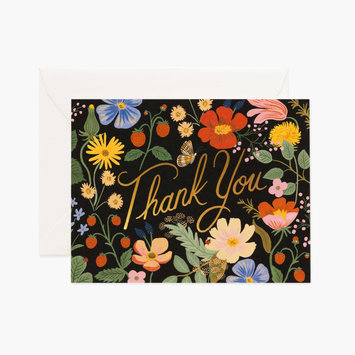 Rifle Paper Co. Rifle Paper Strawberry Fields Thank You Notes, Set of 8