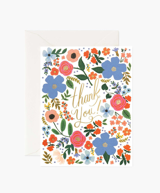 Rifle Paper Co. Rifle Paper - Wild Rose Thank You Notes, Set of 8