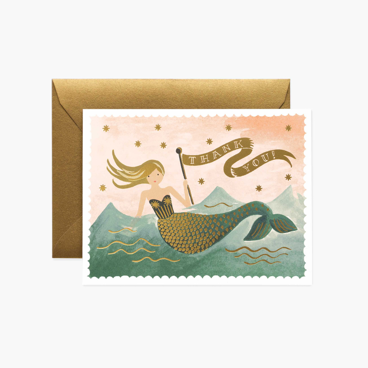 Rifle Paper Co. Rifle Paper - Mermaid Thank You, Set of 8