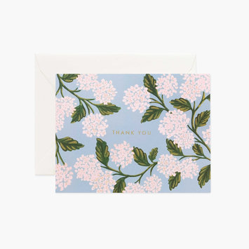 Rifle Paper Co. Rifle Paper - Hydrangea Thank You Notes, Set of 8