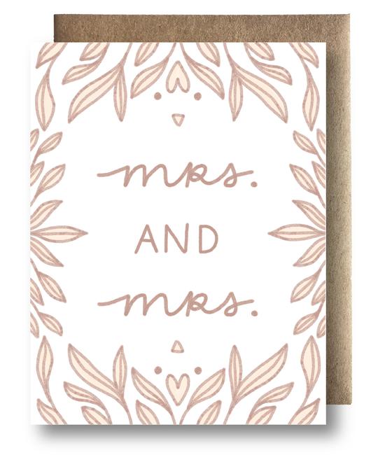 Maija Rebecca Hand Drawn Mrs. And Mrs.