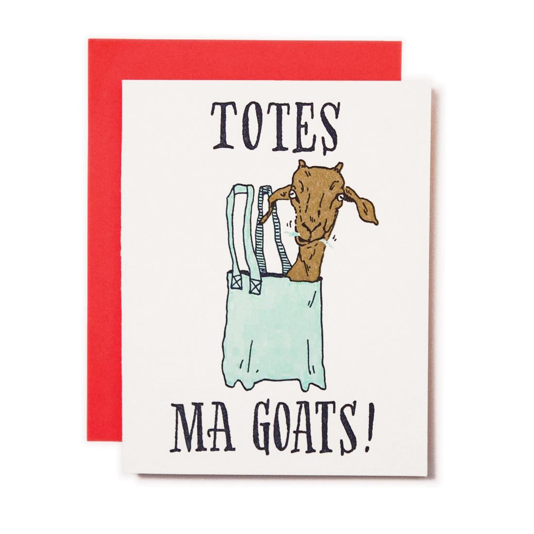 Ladyfingers Letterpress Totes ma Goats!