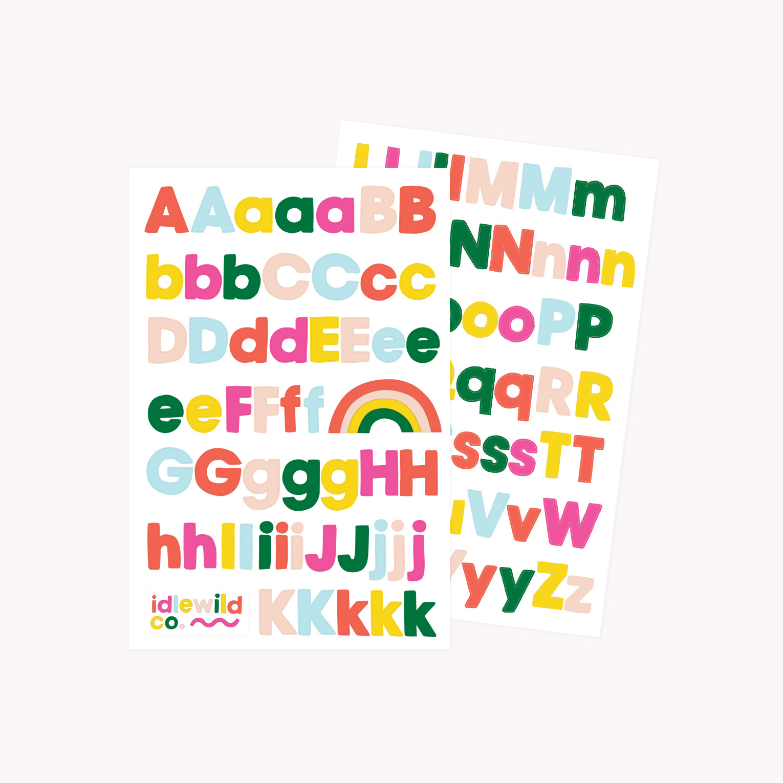 Idlewild Co - ID Brights Alphabet Stickers (2 Sheets)