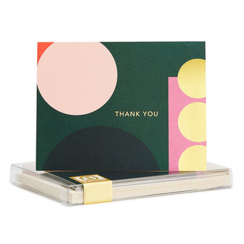 Snow and Graham Geo Gold Foil Thank You Set of 8