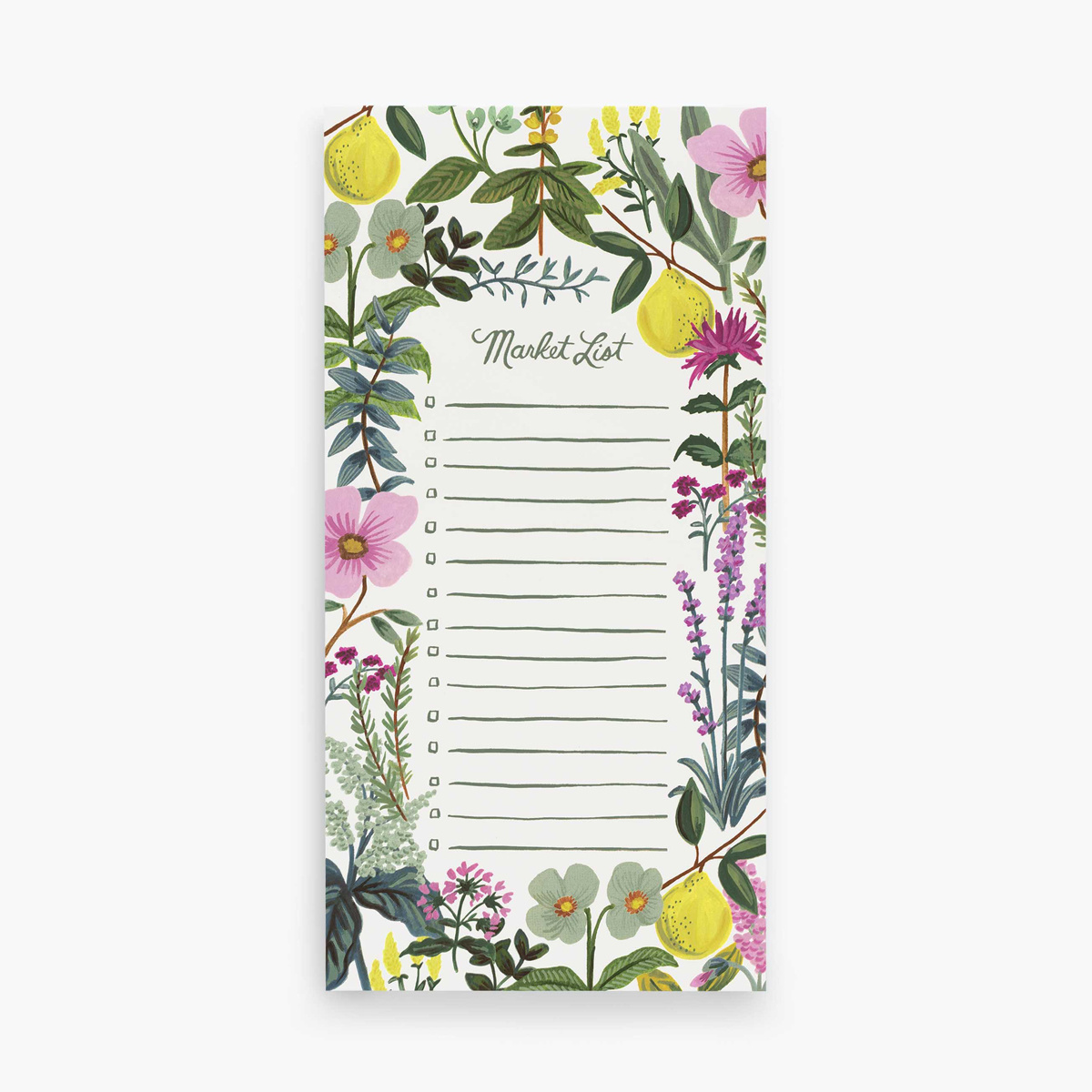 Rifle Paper Co Herb Garden Market List Pad