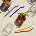 poketo Glass Straw Set, Cool