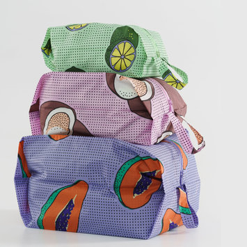 BAGGU Baggu - Tropical Fruit 3D Zip Dopp Kit Set