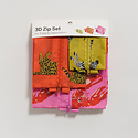 BAGGU Baggu - Fancy Animals 3D Zip Dopp Kit Set
