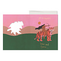 Red Cap Cards Warrior Woman, French Fold