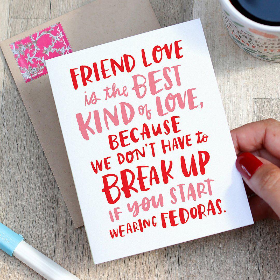 Emily McDowell Fedoras Friend Card