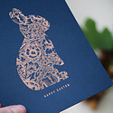 Bespoke Letterpress Happy Easter foil