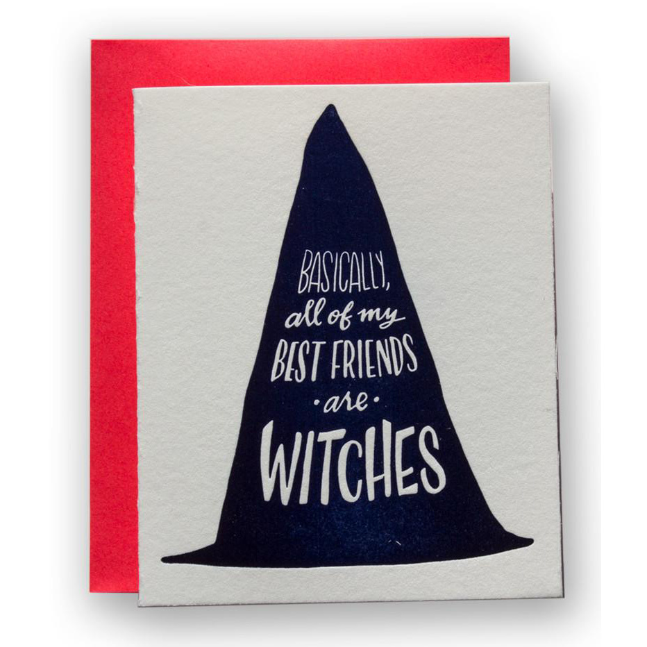 Ladyfingers Letterpress All My Friends are Witches