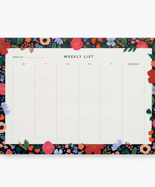 Rifle Paper Co. Rifle Paper- Wild Rose Weekly Desk Pad