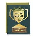 one canoe two letterpress Anniversary Trophy