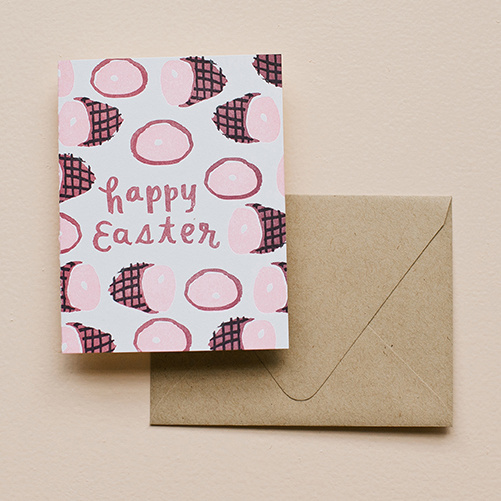 Printerette Press - PRP Happy Easter Ham Card