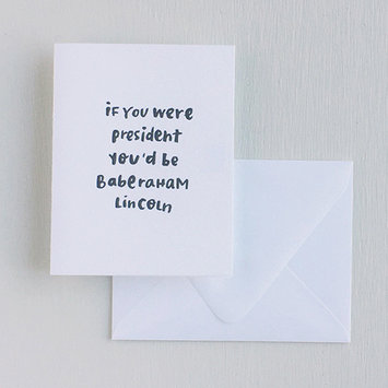 Printerette Press Baberaham Lincoln