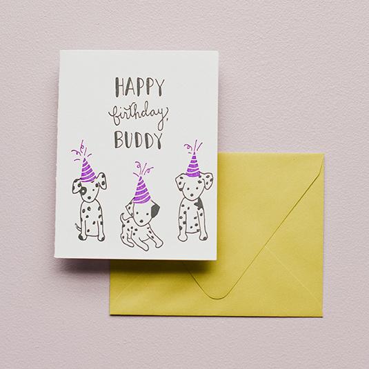 Printerette Press Happy Birthday Buddy