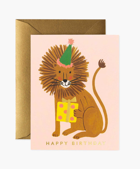 Rifle Paper Co. Rifle Paper - Lion Birthday Card