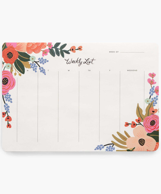 Rifle Paper Co. Rifle Paper - Lively Floral Weekly Desk Pad