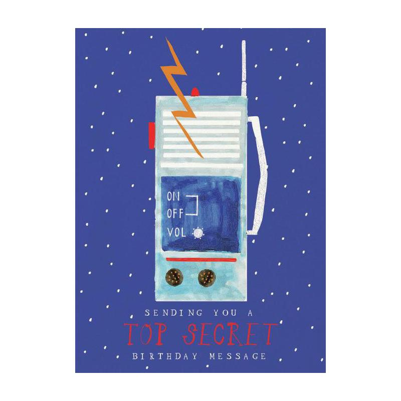 Mr. Boddingtons Studio Walkie Talkie Birthday Card