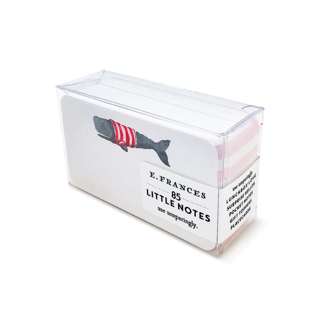 E. Frances Paper Studio EF ECMI - Stripey Whale Little Notes, set of 85