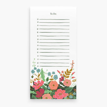 Rifle Paper Co Floral Vines Market List Pad