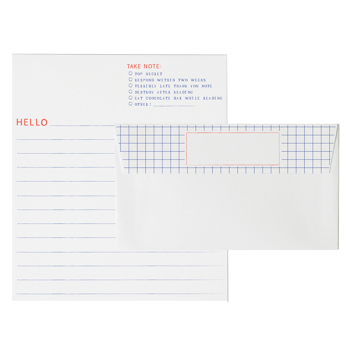 Mr. Boddingtons Studio Graph Paper Letterhead Set