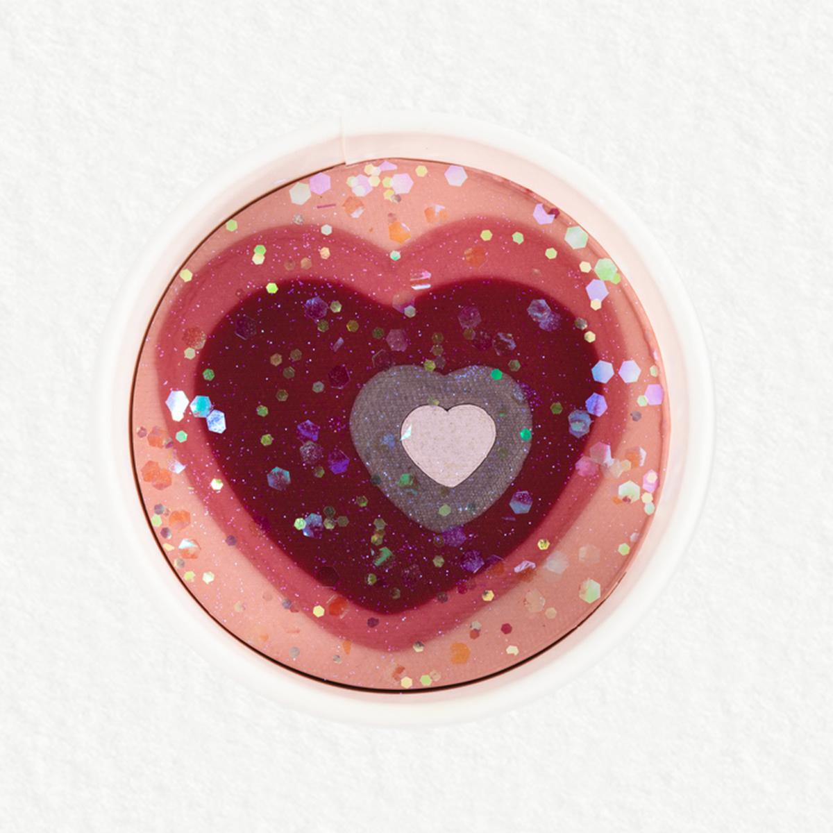 Land of Dough Heart Glitter Dough Cup