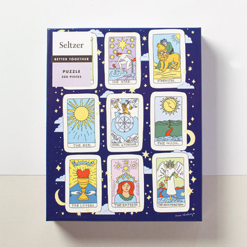 Seltzer Tarot Cards Puzzle by artist Claire Shadomy