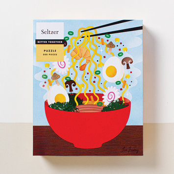 Seltzer Ramen Bowl Puzzle illustrated by Lan Truong