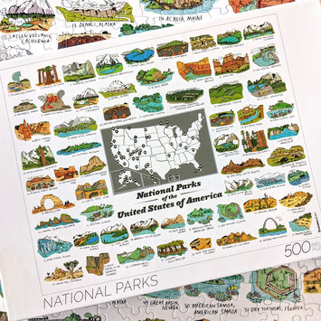 Brainstorm Print and Design National Parks 500 Piece Puzzle