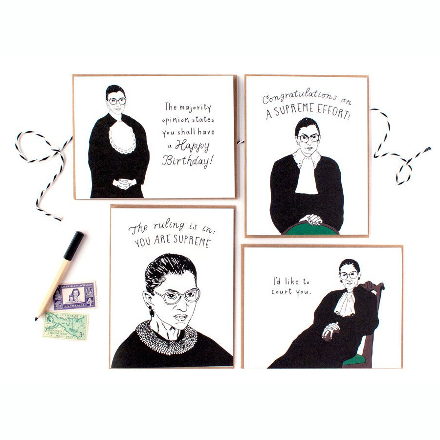 Party of One - POO RBG Boxed Note Cards, Set of 8