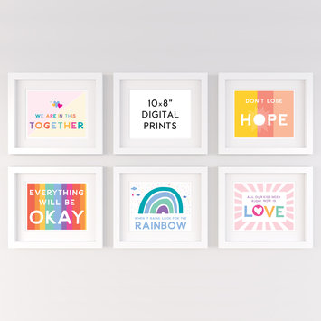 "Gus and Ruby Letterpress - GR Signs of Hope Bundle Digital 8"" x 10"" Art Prints"