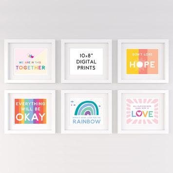 """Gus and Ruby Signs of Hope Bundle Digital 8"""" x 10"""" Prints"""