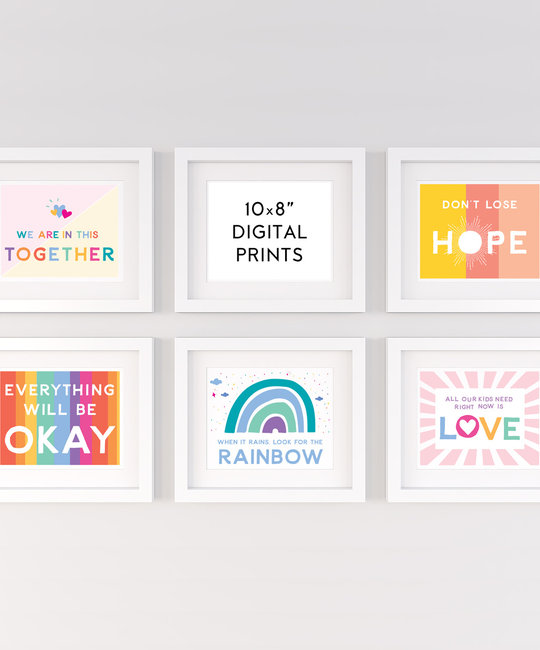 "Gus and Ruby Letterpress - GR Signs of Hope Bundle Digital 8"" x 10"" Prints"