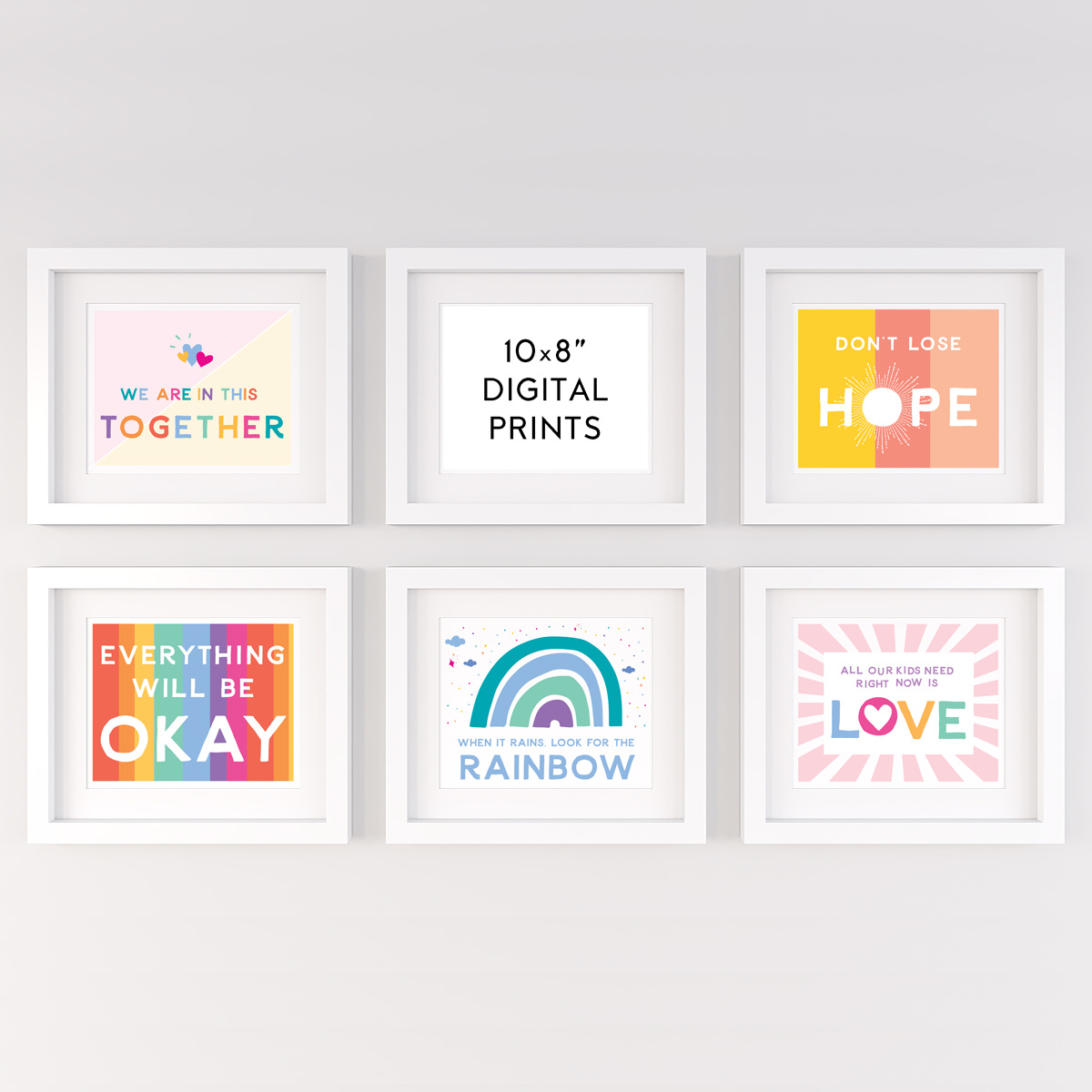"Gus and Ruby Letterpress Signs of Hope Bundle Digital 8"" x 10"" Art Prints"