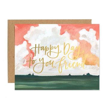 One Canoe Two Letterpress - OC Happy Day to You, Friend