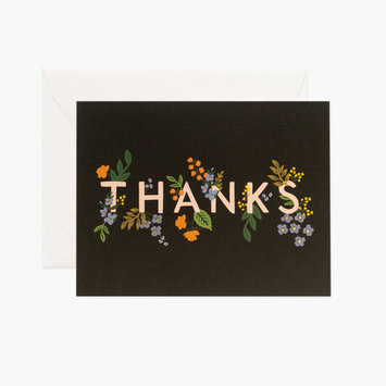 Rifle Paper Co. Rifle Paper - Posey Thank You Notes, Set of 8